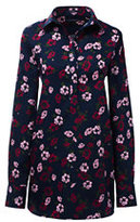 Lands' End Women's No Iron Tunic Top-Wild Berry Floral