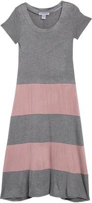 Cotton Emporium Short Sleeve Colorblock Maxi Dress