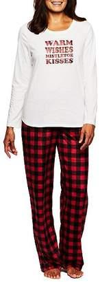Karen Neuburger Candy Cane Stripe Fleece Pajama Set