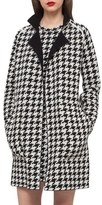 Akris Reversible Houndstooth Double Face Cashmere Coat