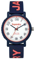Superdry Women's 'Campus' Quartz Plastic and Silicone Dress Watch, Color:Blue (Model: SYL196U)