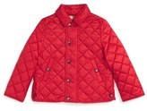 Burberry 'Mini Luke' Quilted Jacket (Baby Boys)