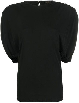 Versace Sculptural Shoulder Top