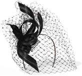 Philip Treacy Crystal-embellished Veiled Headpiece - Black