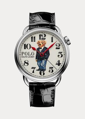 Ralph Lauren 42 MM Tuxedo Polo Bear Watch
