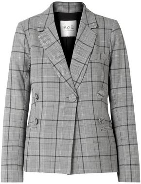 Sea Bacall Button-embellished Prince Of Wales Checked Tweed Blazer