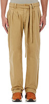 Visvim Men's Canvas Triple-Pleated Trousers-TAN