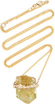Jill Hoffmeister One-Of-A-Kind 14K Gold, Diamond And Crystal Necklace