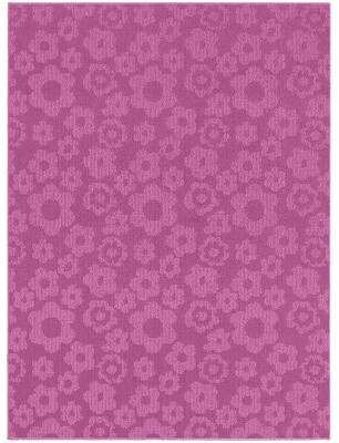 "Threadbind Floral Tufted Molly Pink Indoor/Outdoor Area Rug Rug Size: Rectangle 7'6"" x 9'6"""