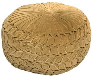 Harkaari Smocking Cotton Velvet Pouf