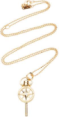 Monica Rich Kosann Travel Mini 18K Gold Diamond Necklace