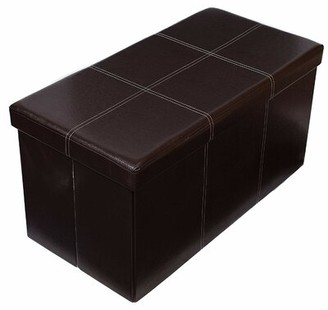 Andover Mills Baby & Kids Faux Leather Storage Bench