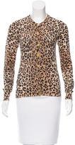 Dolce & Gabbana Leopard Print Crew Neck Cardigan