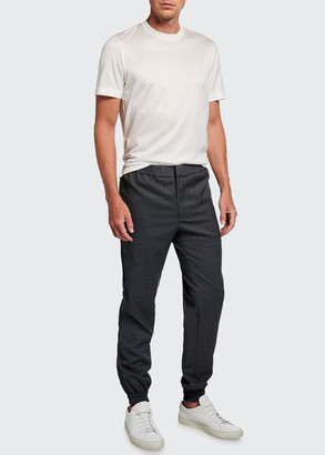 Brioni Men's Wool Jogger Trousers