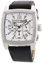 Just Cavalli Men's R7271583001 Pulp Black Leather Band Watch.