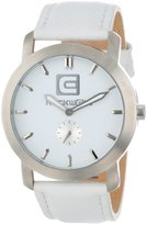 Rockwell Time Unisex CT103 Cartel White Leather Band White Dial Watch