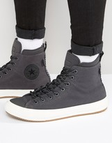 Converse Chuck Taylor All Star Ii Boot Plimsolls In Grey 153568c-049