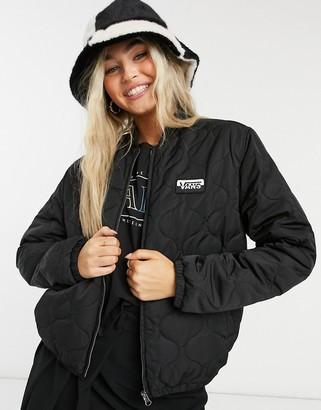 Vans Boom Boom VI bomber jacket in black
