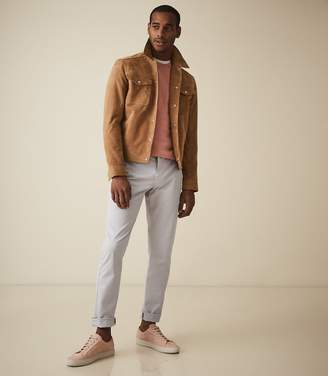 Reiss Fielder - Garment Dyed Slim Fit Chinos in Frost