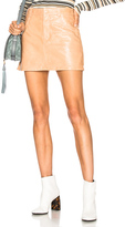 Chloé Shiny Crackled Leather Mini Skirt in Neutrals.
