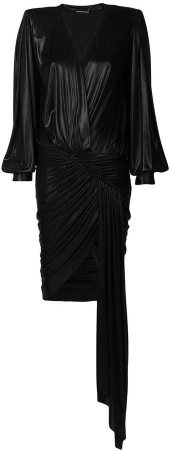 Alexandre Vauthier gathered draped detail dress