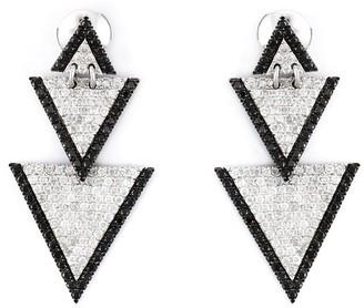Elise Dray Drop Triangle Diamond Earrings