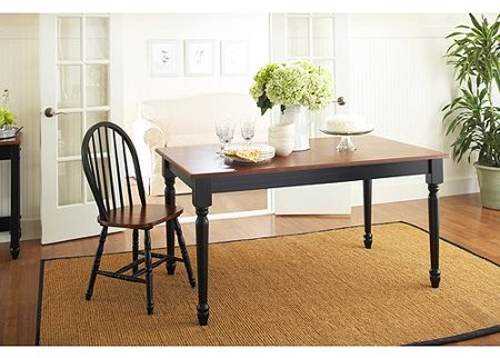 Better Homes & Gardens Better Homes and Gardens Autumn Lane Farmhouse Dining Table, Black and Oak
