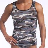 ECYC Men's Summer Cool Tank Tops Army Camo Camouflage Printed Vest T-shirt,Grey L