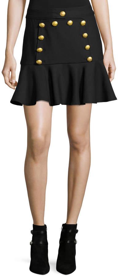 Veronica Beard Morrison Sailor Flounce Mini Skirt