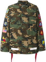 Off-White camouflage patch cargo jacket - men - Cotton/Polyester - L