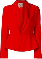 Forte Forte fitted blazer jacket - women - Cotton/Linen/Flax - II