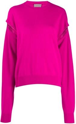 Mrz Slit-Sleeves Knit Jumper