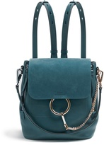 Chloé Faye mini suede and leather backpack