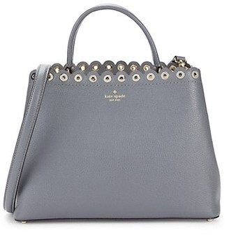 Kate Spade Janell Scalloped Pebbled-Leather Top Handle Bag