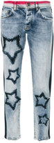 Iceberg cropped star-patch jeans