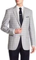 Hart Schaffner Marx Notch Lapel Front Button Plaid Wool Sport Coat