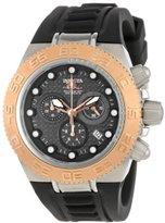 Invicta Women's 10860 Subaqua Sport Chronograph Black Carbon Fiber Dial Black Silicone Watch