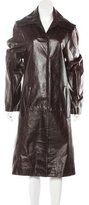 Ann Demeulemeester Leather Trench Coat