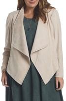 Tart Plus Size Women's Sybil Faux Suede Drape Front Jacket