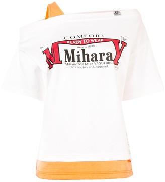 Maison Mihara Yasuhiro layered cold-shoulder T-shirt