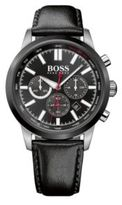 HUGO BOSS Hbracng Chronograph Steel & Leather Strap Quartz Watch One Size Assorted-Pre-Pack