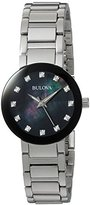 Bulova Women's Quartz Stainless Steel Casual Watch, Color:Silver-Toned (Model: 96P172)