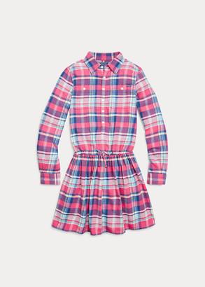 Ralph Lauren Plaid Cotton Twill Shirtdress