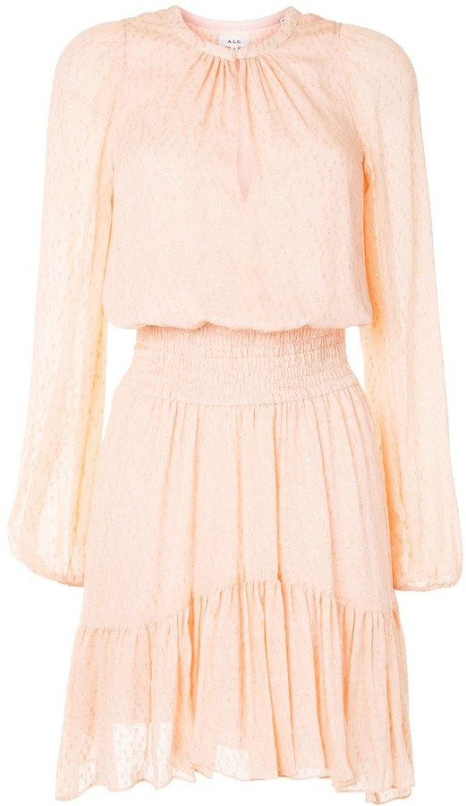 A.L.C. Asymmetric Long-Sleeve Dress