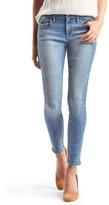 Gap Mid rise gem-studded true skinny jeans