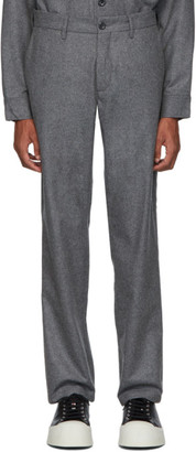 Norse Projects Grey Wool Aros Trousers