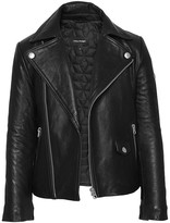 Mackage Dom Unisex Leather Jackets In Black (8-14 Yrs)