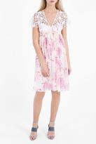 Giamba Flamingo Print Empire Dress