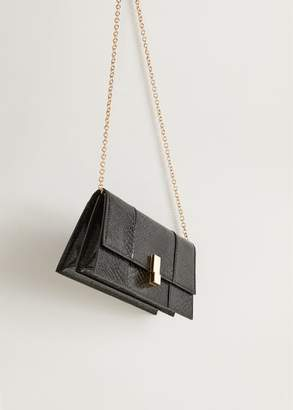 MANGO Croc-effect bag black - One size - Women