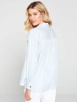 Miss Selfridge Utility Shirt - Blue